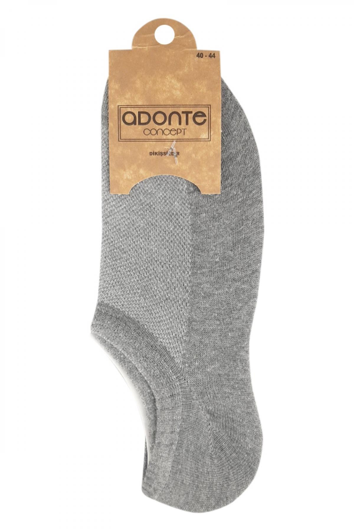 Adonte Erkek Sneaker Düz Çorap - Thumbnail
