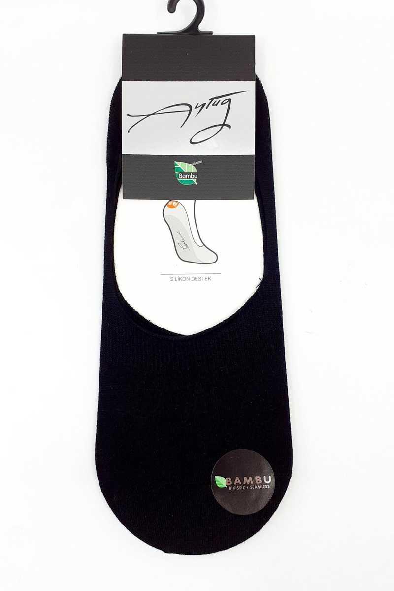 Aytuğ Erkek Babet Çorap Suba Düz Bambu - Thumbnail