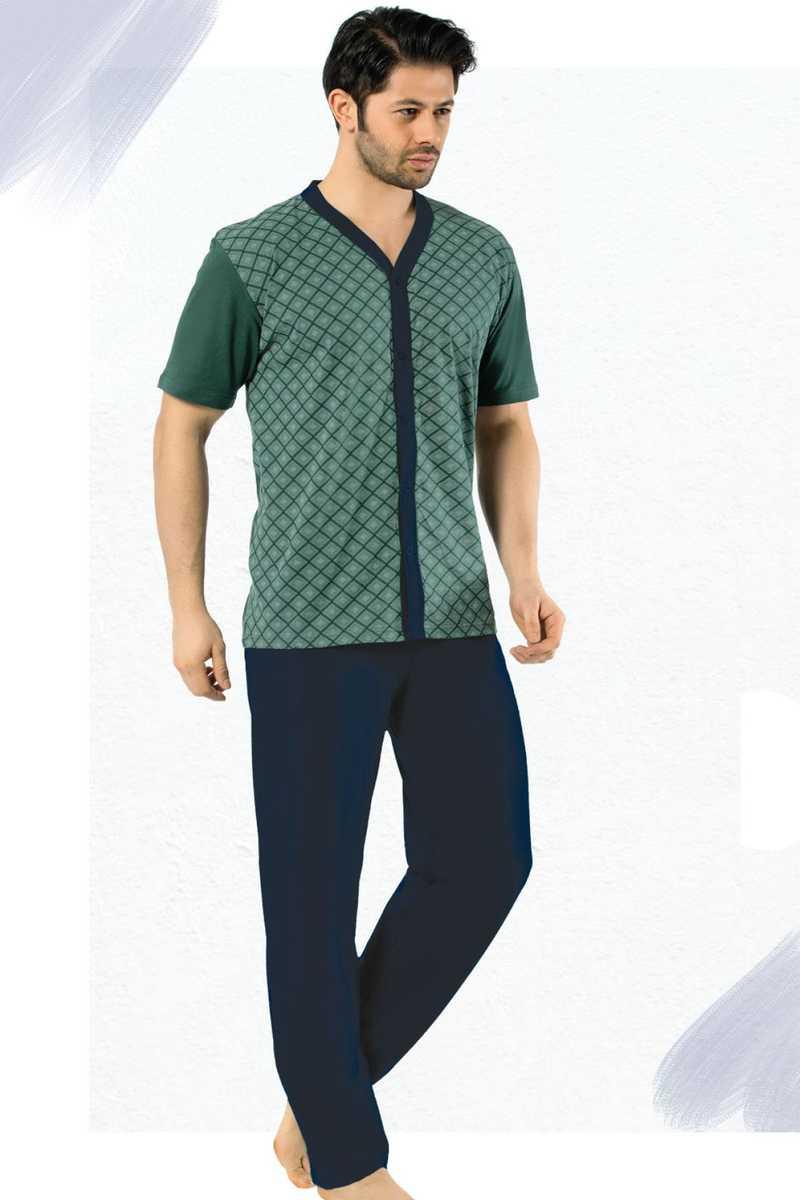 Falkon Erkek Pijama Takım Kısa Kol Süprem (FAWN4213) - Yeşil