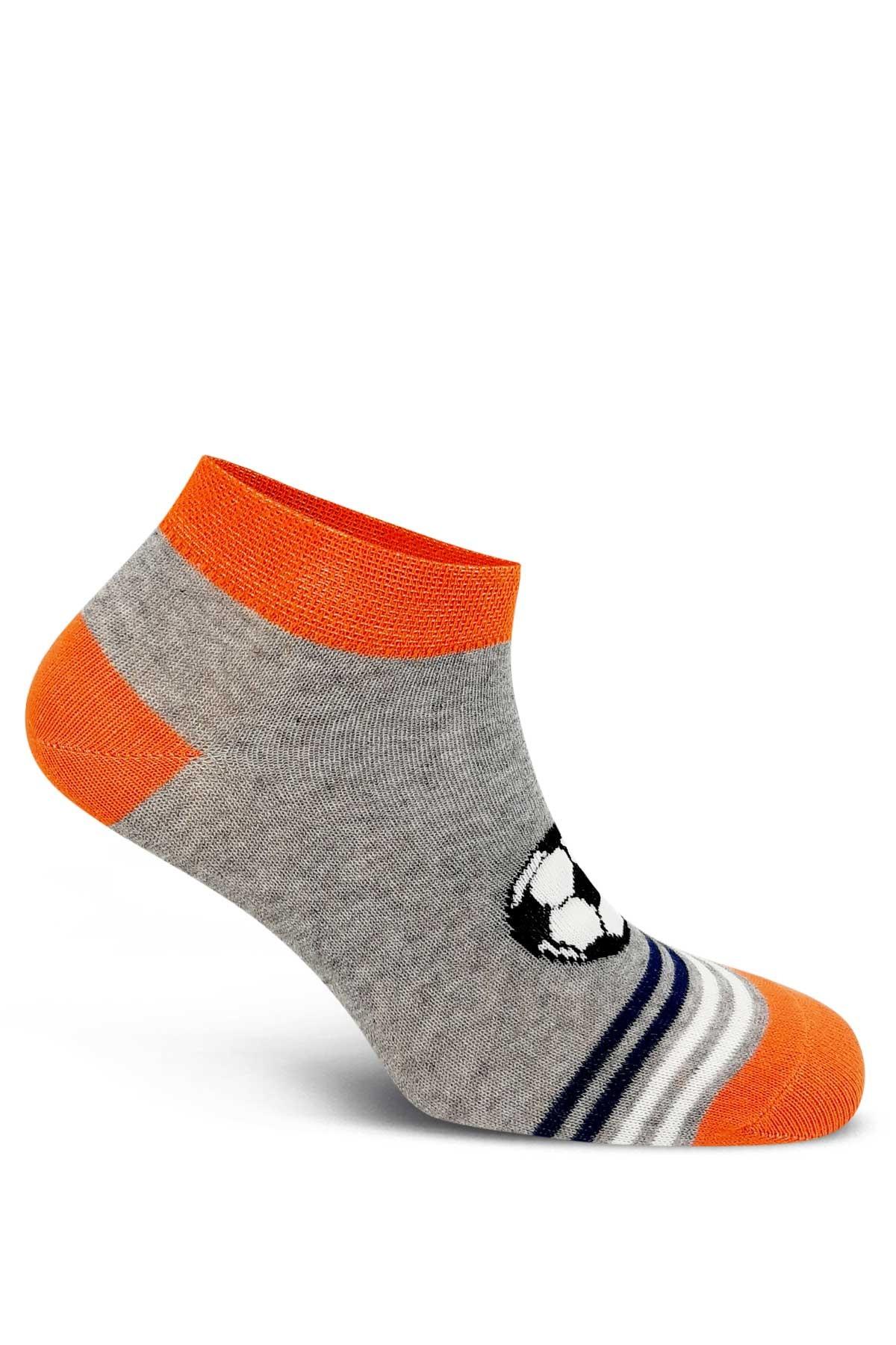 First Erkek Çocuk Patik Çorap Futbol Topu 3 lü - Asorti - 9 - Thumbnail