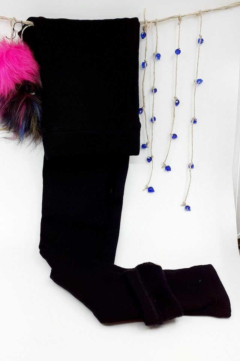 Meg Style Kadın Tayt Polyester Düz - Siyah