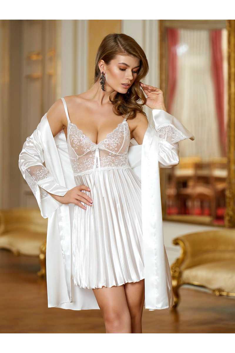 Nurteks Kadın Fantezi Kimono Takım Saten (NURTEKS5355) - Thumbnail