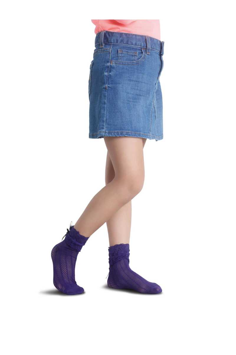 Penti Kız Çocuk İnce Külotlu Çorap Limo File - Thumbnail
