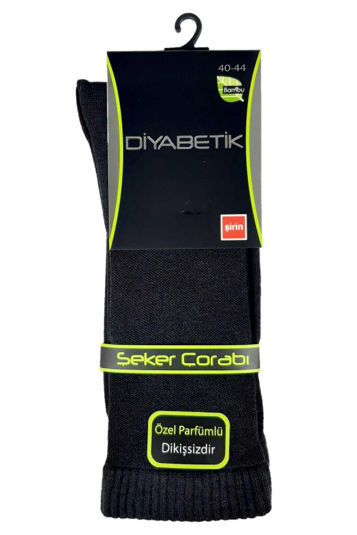 Şirin Erkek Diyabetik Çorap Düz Dikişsiz Bambu - Thumbnail