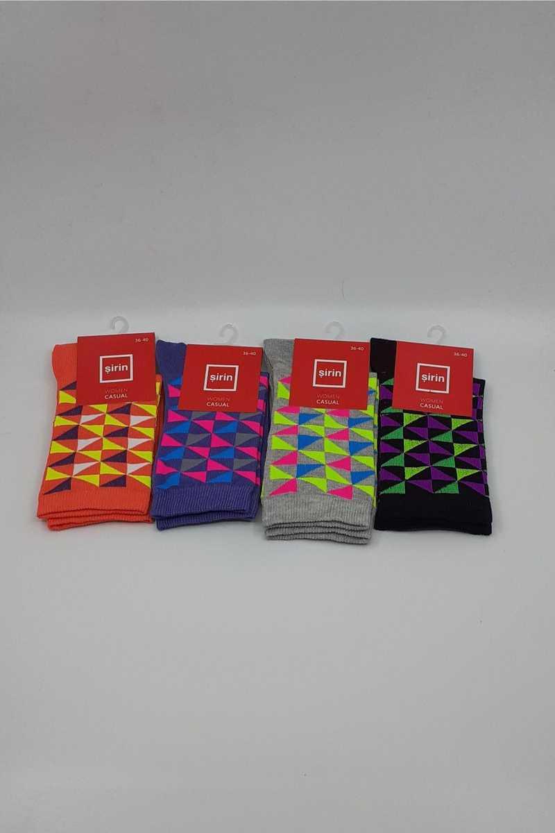 Şirin Kadın Soket Çorap Likralı Desenli (SIRIN41509) - Thumbnail