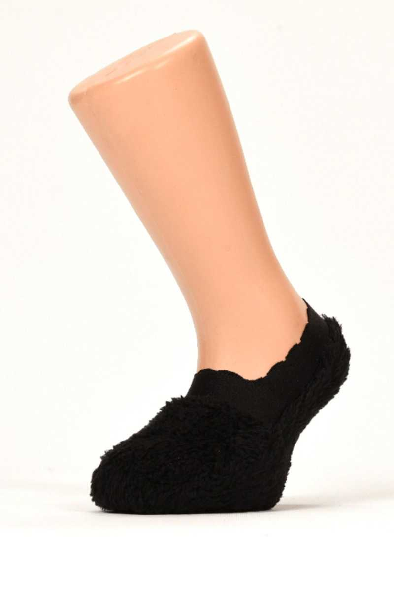 Söylemez Kız Çocuk Babet Çorap Peluş - Thumbnail