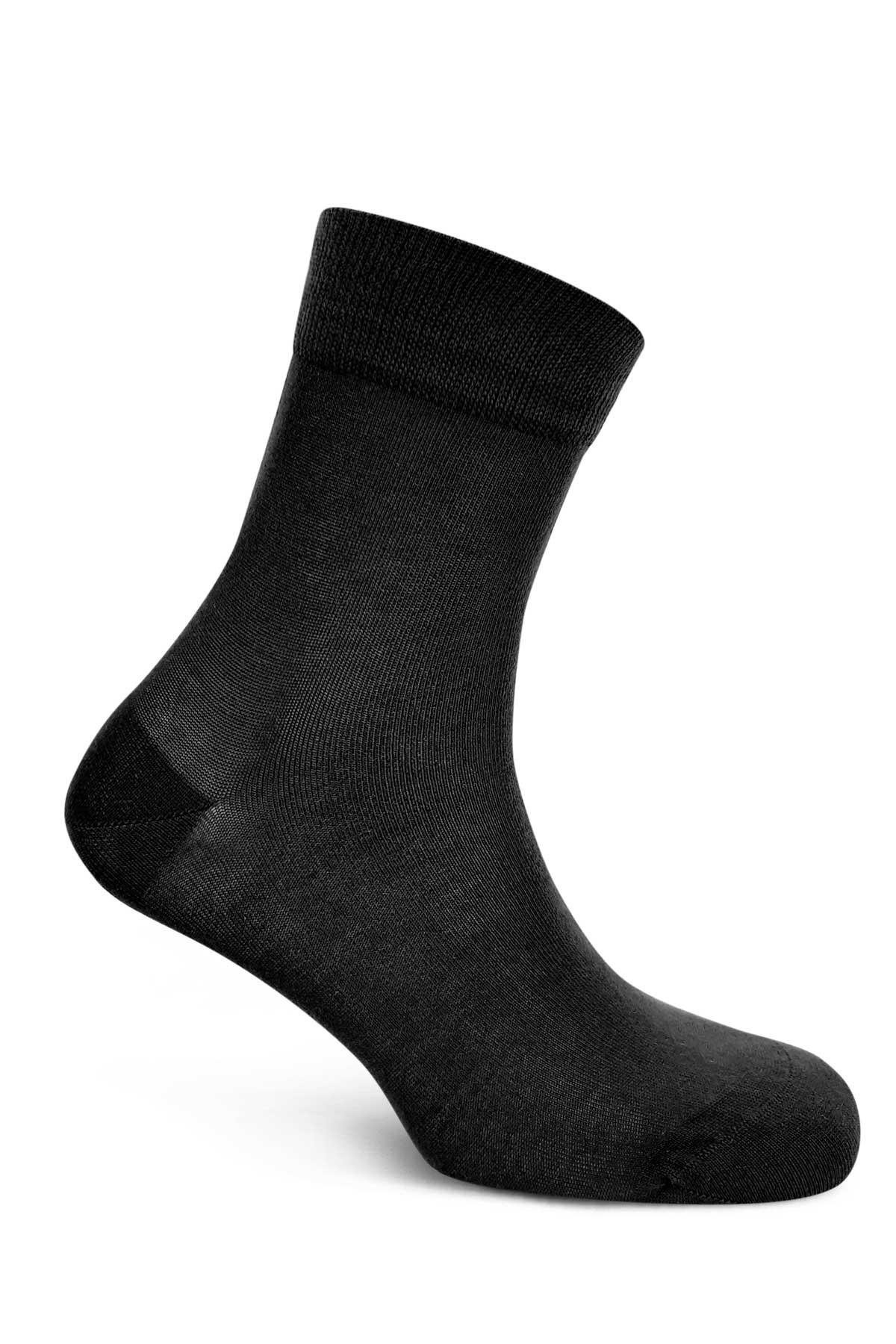 Style Erkek Yarım Konç Çorap Düz - Thumbnail