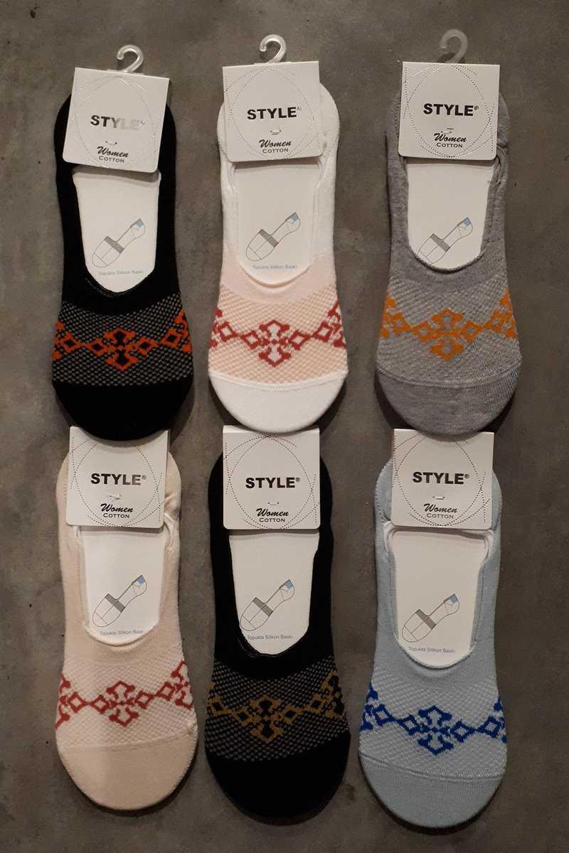 Style Kadın Babet Çorap Suba Penye (STY8790) - Thumbnail