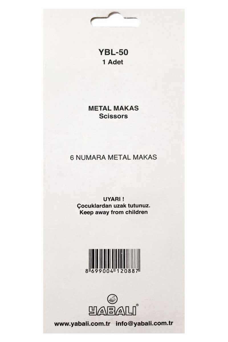Yabalı Makas No:6 Metal Saplı - Thumbnail