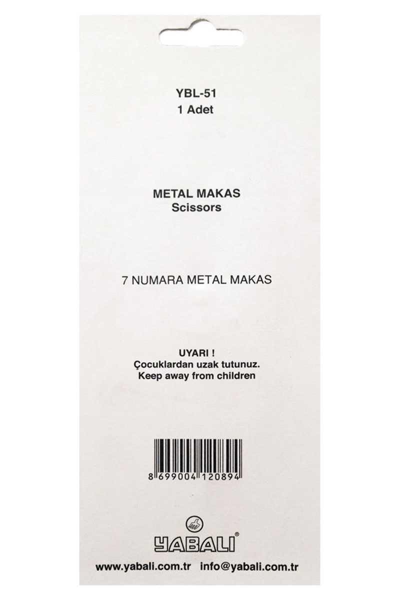 Yabalı Makas No:7 Metal Saplı - Thumbnail
